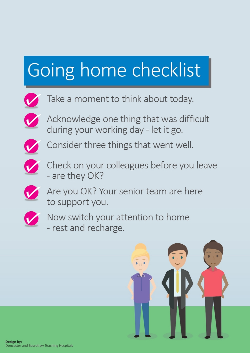 NHS UK Going Home CheckList