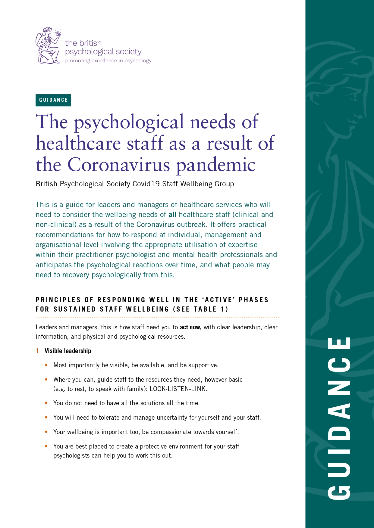 psychological needs of healthcare staff Coronavirus pandemic page 0001